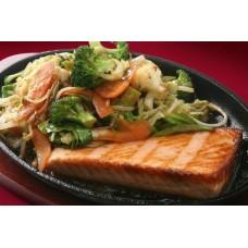 Teishoku de salmão