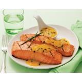 Porção de salmão grelhado